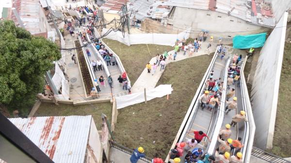 Medellin, Colombia Escalators